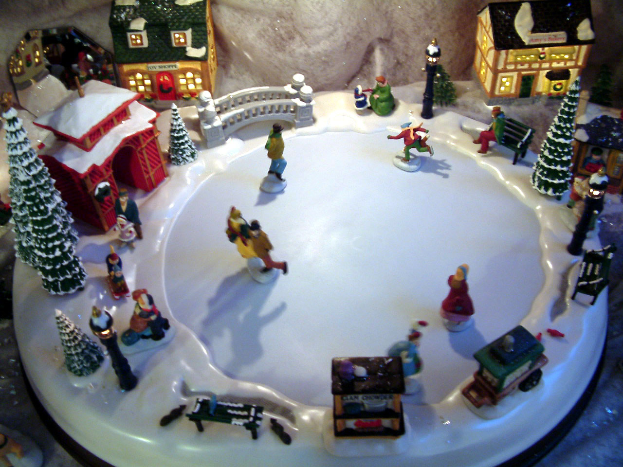 Here S The Ice Skating Village My Daughter Kathy Family Gave Me Quite Some Time Ago I Don T Set It Up Every Year But Decided To This Because Of
