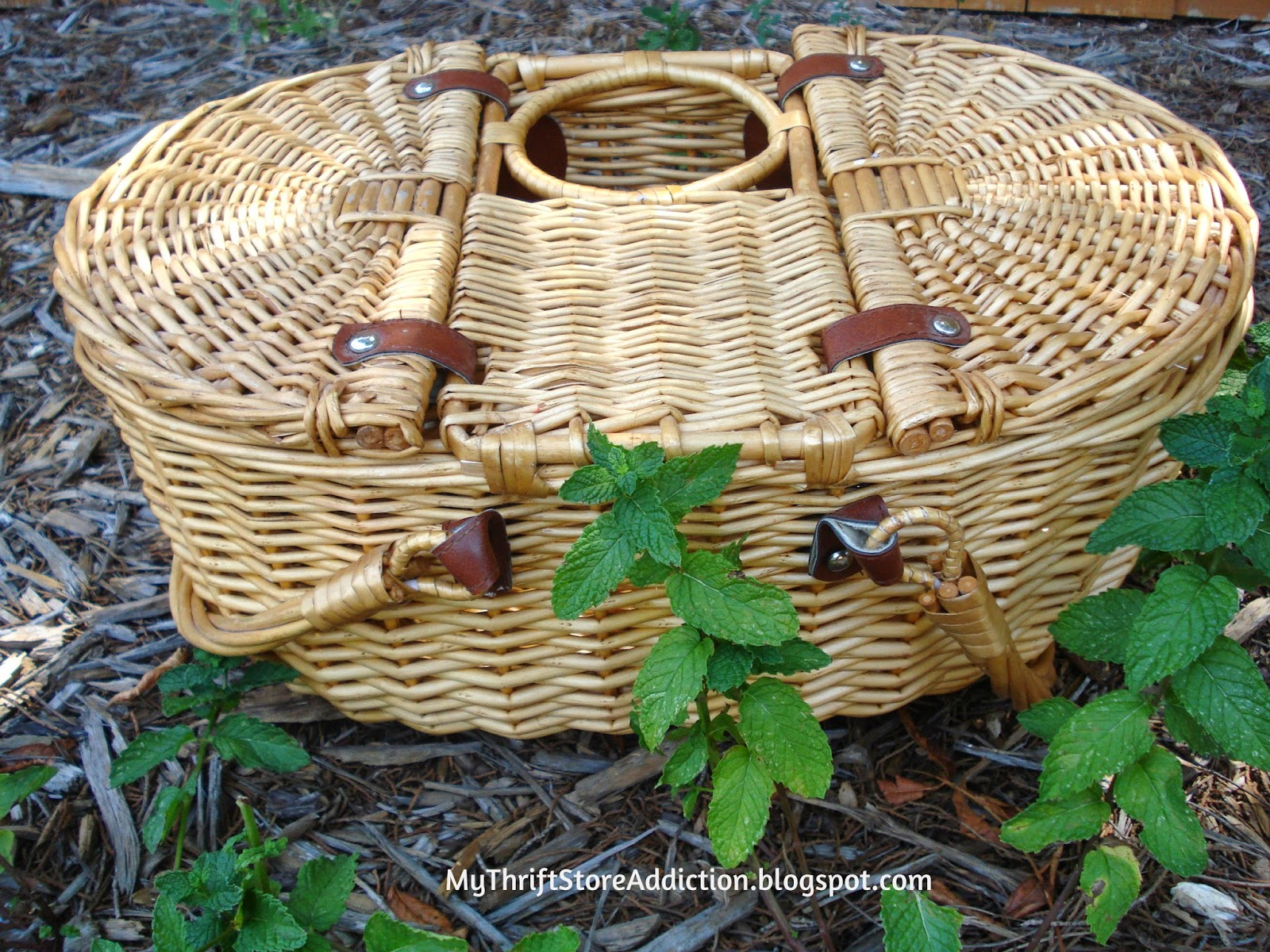 Yard sale picnic basket