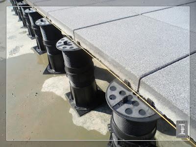 rektifikační terče Buzon s nastavitelnou výškou - pokládka dlažby
