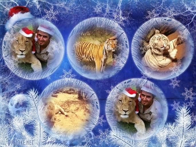 Como fazer Colagem de Fotos de Natal