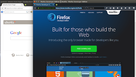 How to use firefox developer version along with standard version on Ubuntu 14.10/14.04