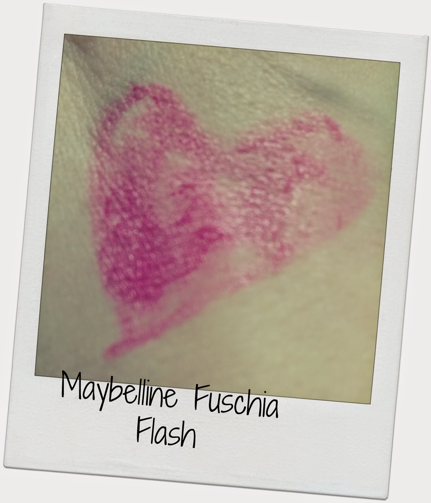 Maybelline Fuchsia Flash lipstick review