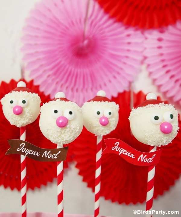 DIY Santa Claus Cake Pops Recipe - BirdsParty.com