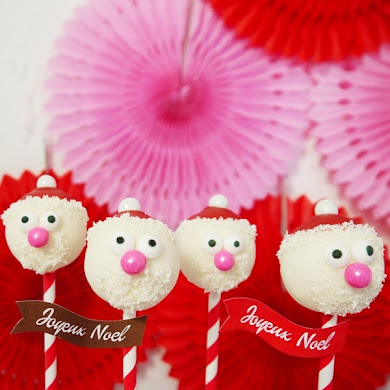 DIY Santa Claus Cake Pops Recipe