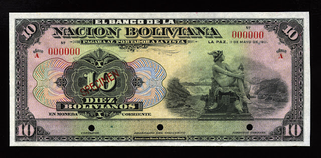 10 Bolivianos banknote bill currency money