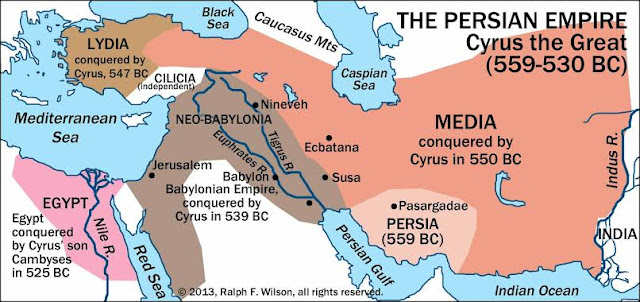 wilayah kekuasaan Cyrus the Great