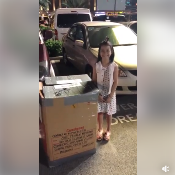 OFW dad surprises kid with one-of-a-kind balikbayan box