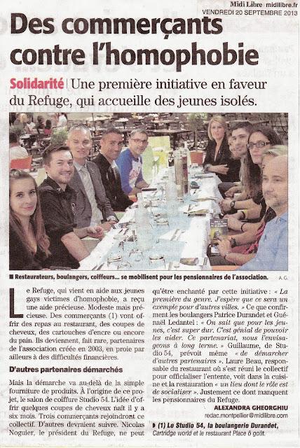Article du 20 septembre 2013 du journal Midi-Libre, édition de Montpellier.