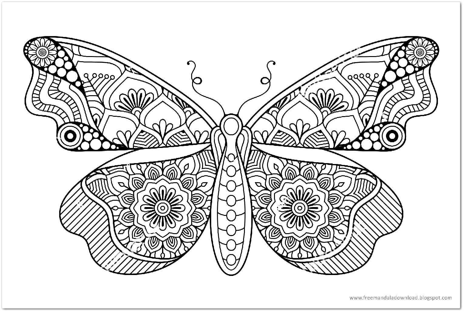 Schmetterling Mandala-butterfly mandala - Free Mandala