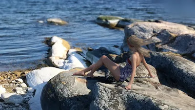 3D Photo Scenes - Swedish Beaches And Rocks
