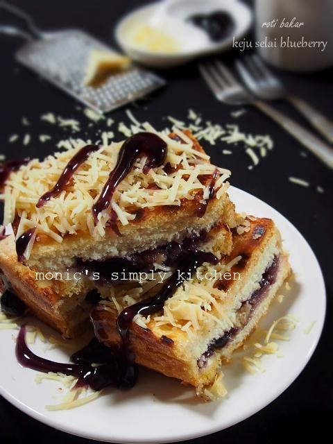 resep roti bakar keju blueberry