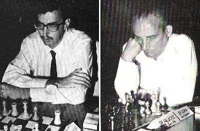 Los ajedrecistas Juan Antonio Valcárcel y Victoriano Soria