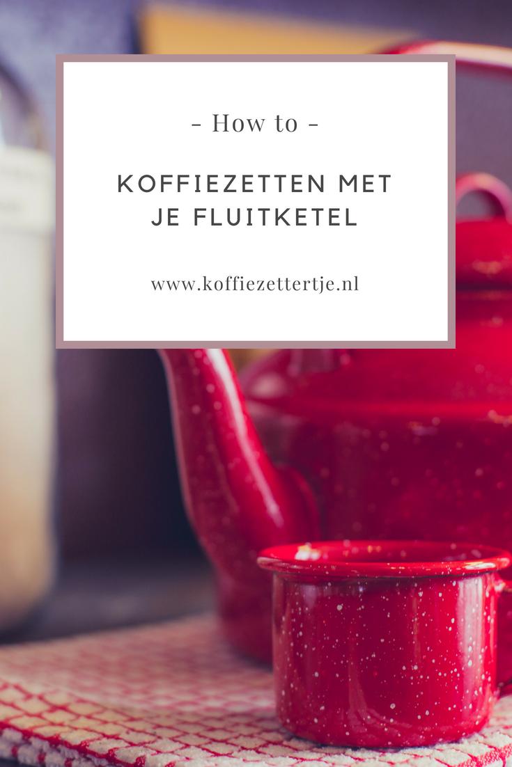 koffiezetten met een fluitketel