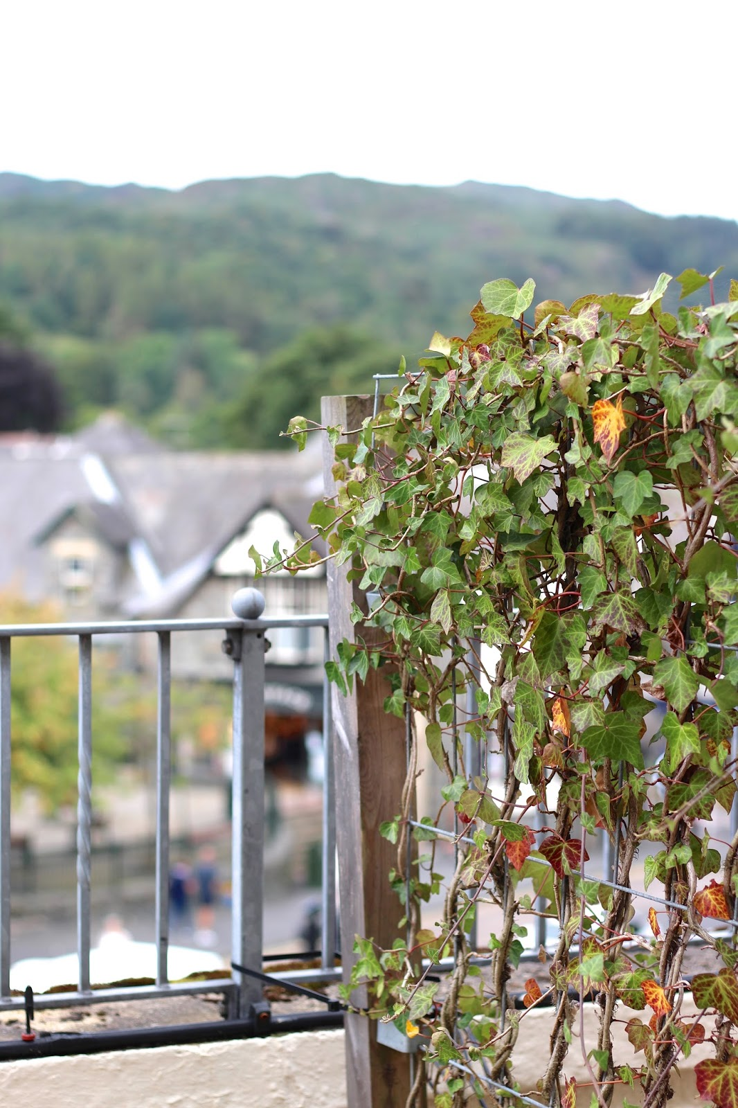 Balcony view from the Ambleside Salutation hotel