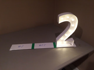 Lighted Numbers