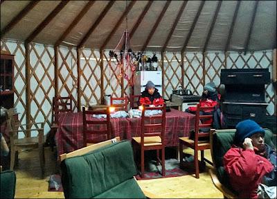 Yurt interior, Sky High Wilderness Ranch, Whitehorse, YK