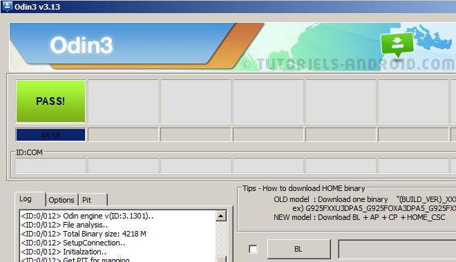 G950FXXU1CRB7 Oreo 8.0 : Odin v3, firmware installé