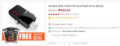 Shopee Sandisk Ultra 16GB OTG