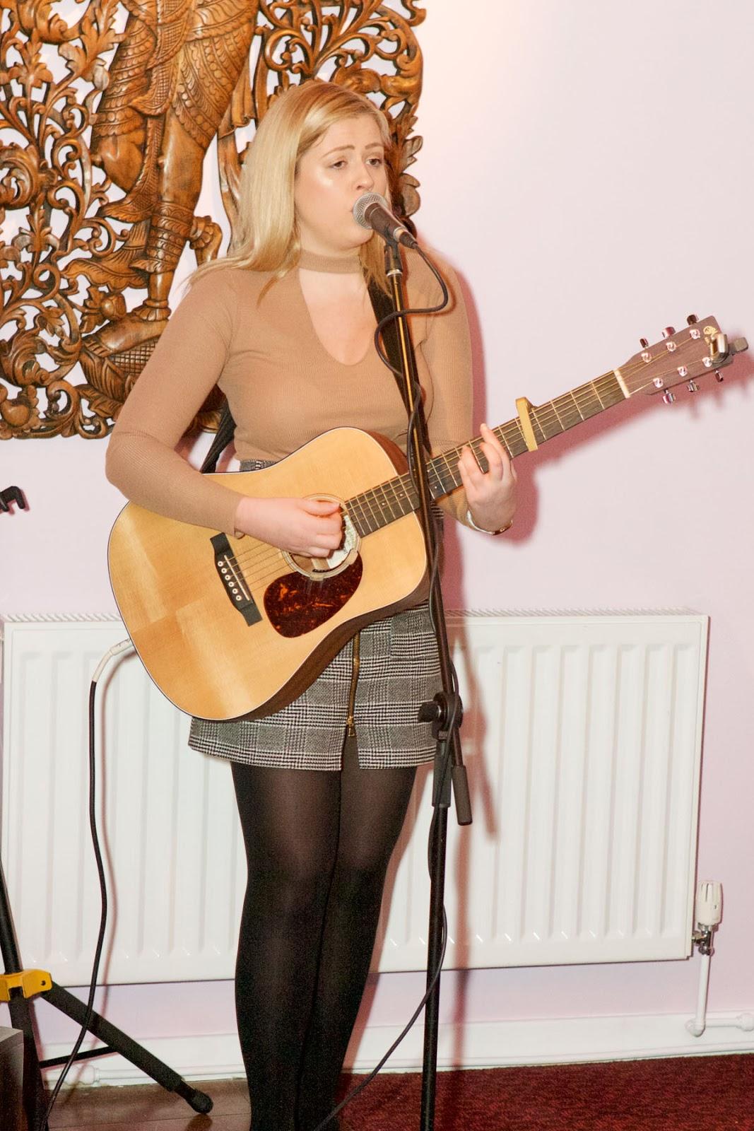 Annabel Pattinson Singer at the Orangegrass Thai Restaurant in South Shields
