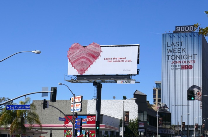 Village heart teaser billboard