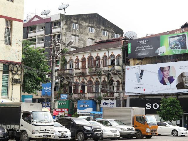 Edificios de Yangon