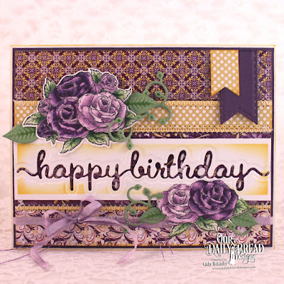 Our Daily Bread Designs Stamp Set: Tea Time, Our Daily Bread Designs Paper Collections: Whimsical Flowers, Plum Pizzazz, Happy Birthday Script, Leaves & Branches, Bitty Blossoms, Pierced Rectangles, Pennant Flags, Double Stitched Pennant Flags, Tea Pot & Roses