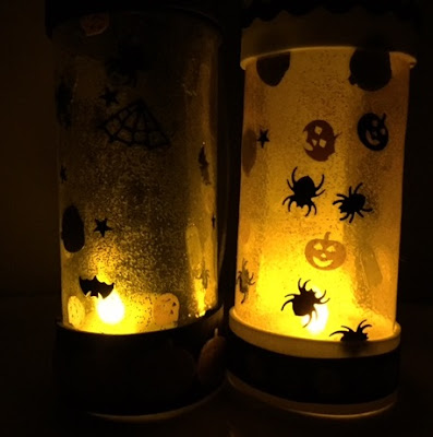 Halloween lanterns with sequins