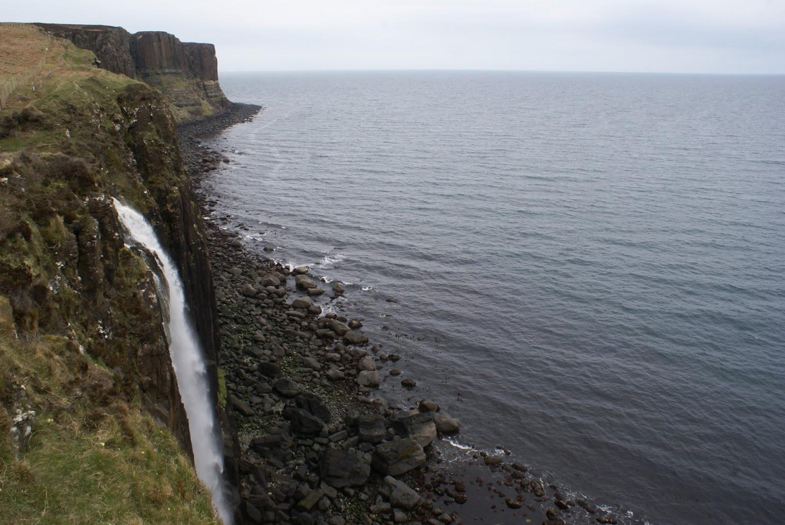 kilt rock scotland waterfall uk united kingdom