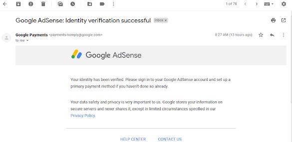 Cara Verifikasi Indentitas Akun Google Adsense Peraturan Terbaru 2018