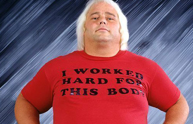 "'I Worked Hard For This Body' T-shirt as worn by pro wrestler ""Playboy"" Buddy Rose. PYGear.com"