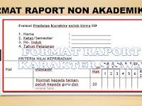 Download Bentuk Format Raport Non Akademik Siswa