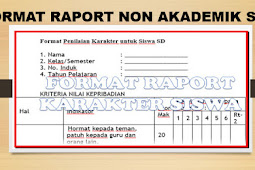 Download Bentuk Format Raport Non Akademik Siswa