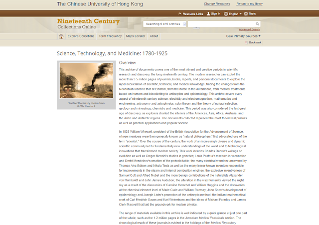 Science, Technology and Medicine: 1780-1925