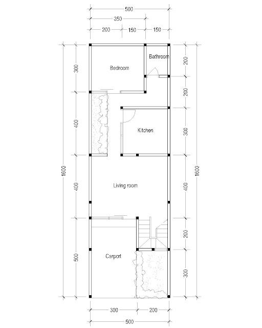 1st Floor Plan for Plan c-16
