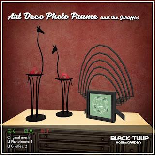 [Black Tulip] HG - Art Deco Photo Frame and The Giraffes