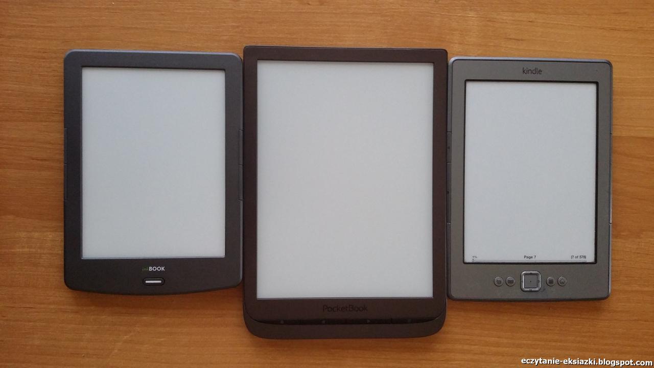 PocketBook InkPad 3, InkBook Classic-2 i Kindle-Classic - porównanie ekranów - porównanie jasności tła