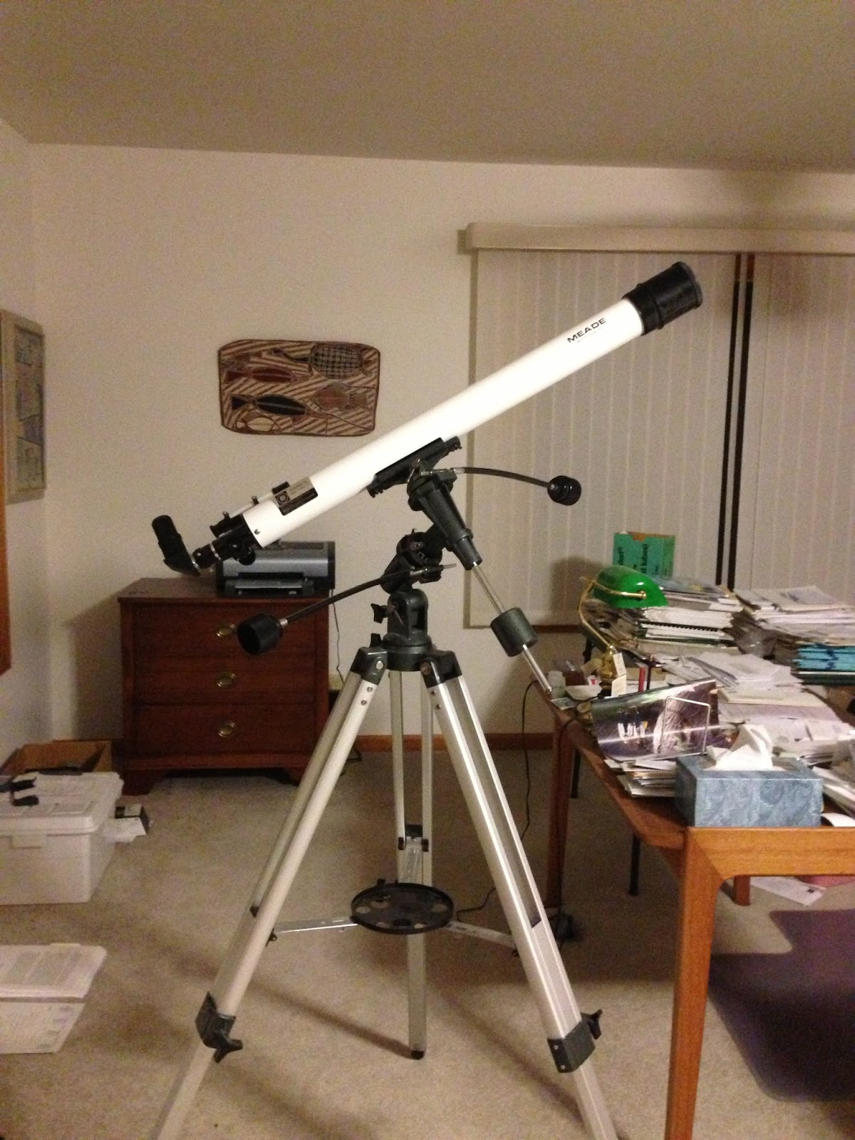 First Light with my Used Meade 285 60mm (2 4