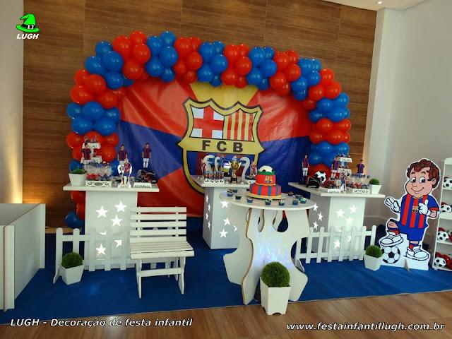 Decoração infantil Barcelona para festa de aniversário - Decoração provençal