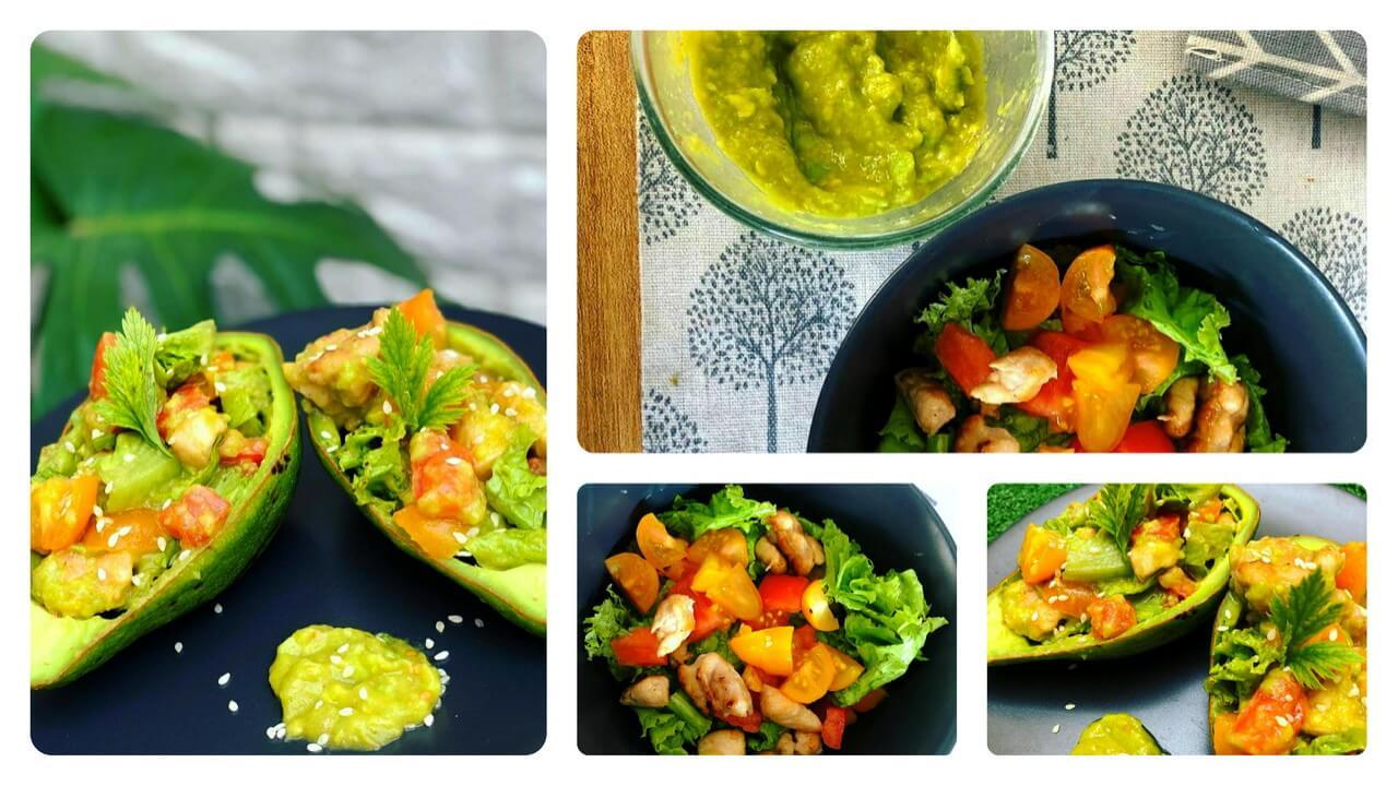 Ayam Grill Salad Alpukat