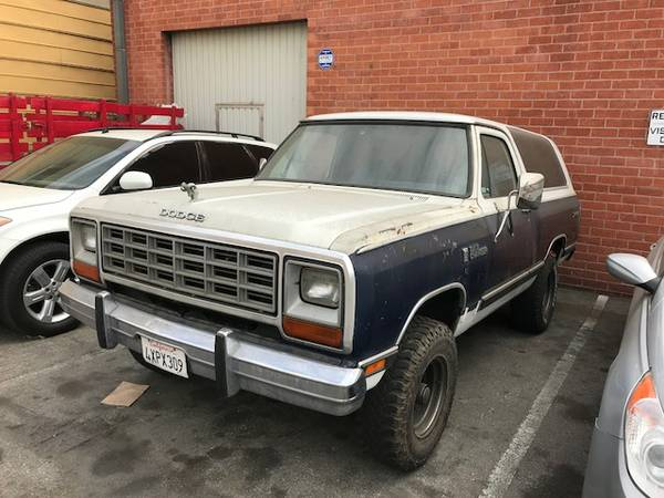 1985 Dodge Ramcharger 4X4 For Sale
