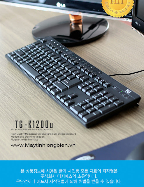 Bàn phím Tiếng Hàn Quốc TG K 1200U