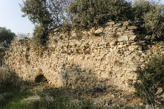 Muro posterior de la anterior palestra