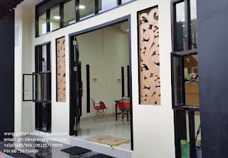 panel GRC krawangan sulur daun penginapan Wisma Assalam