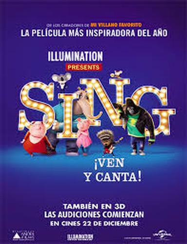 Sing: ¡Ven Y Canta! (2016) 4K (Latino-Inglés) [Animación]