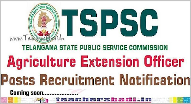 TSPSC,AEO,Agricultural extension officers Recruitment 2016 - GO.77