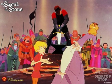 A knight unable to retrieve the sword Sword in the Stone animatedfilmreviews.filminspector.com