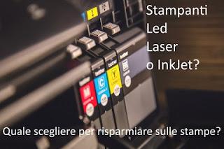 Stampante Led, Laser o InkJet?