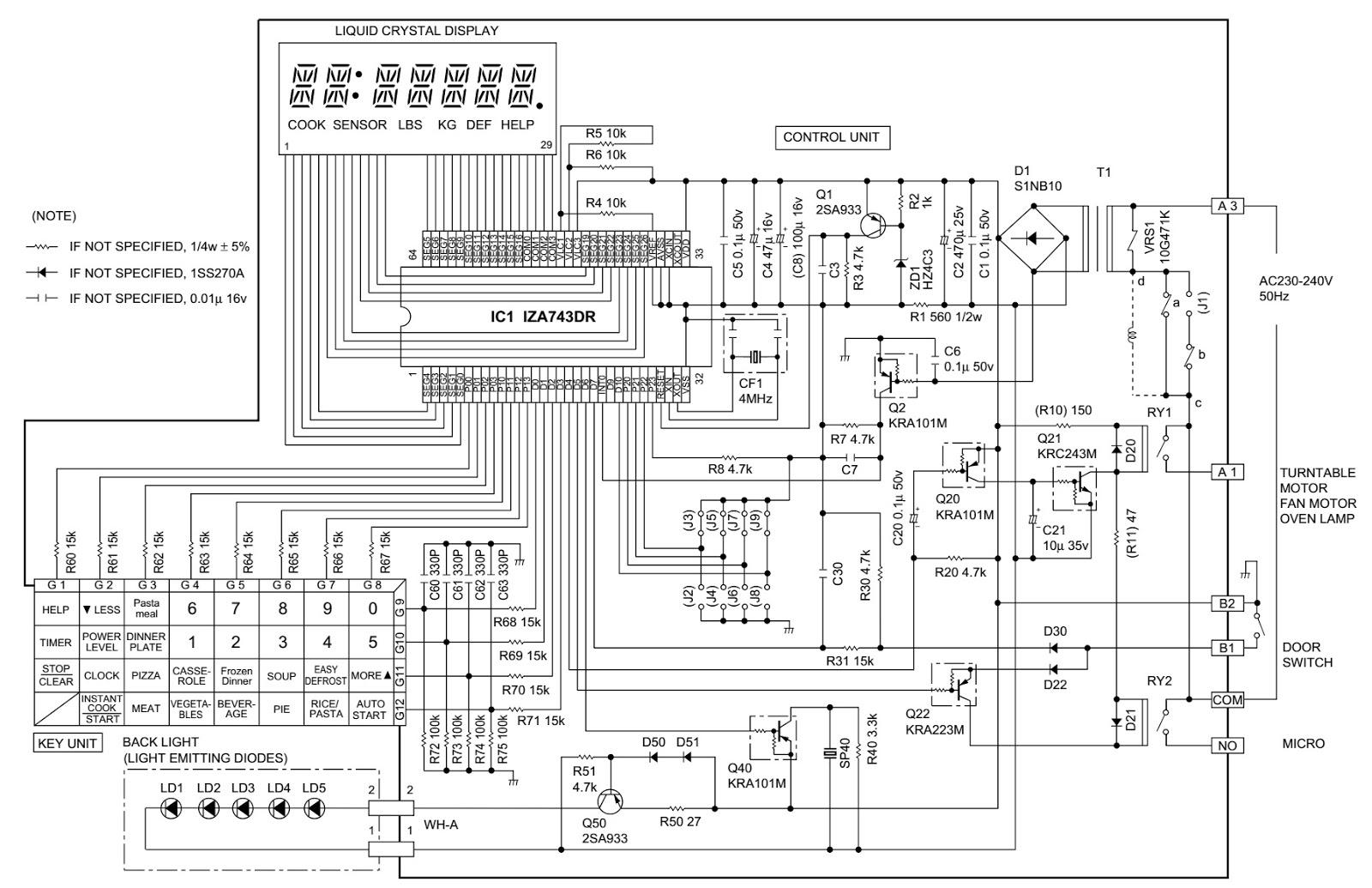 Sharp Microwave Oven Circuit Diagram Tools