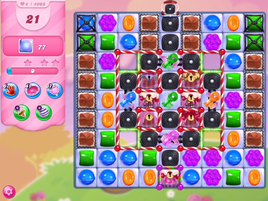 Candy Crush Saga level 4908