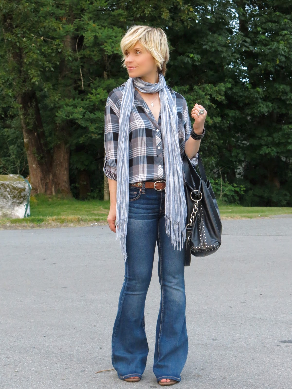 Style 3-Play:  Flare Jeans Look Three